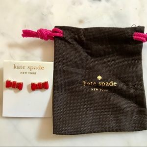 Kate Spade Red Bow Earrings! NWT
